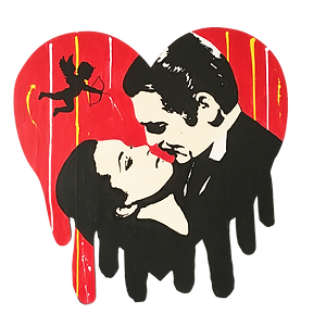 le closier, pop art, wall sculpture, love, cupid, gone with the wind, clarck gable, vivien leigh,