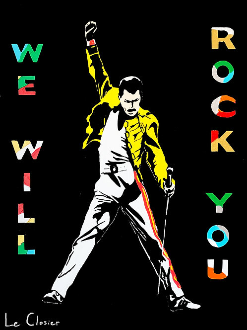 "WE WILL ROCK YOU- Original painting - 30""x40"""
