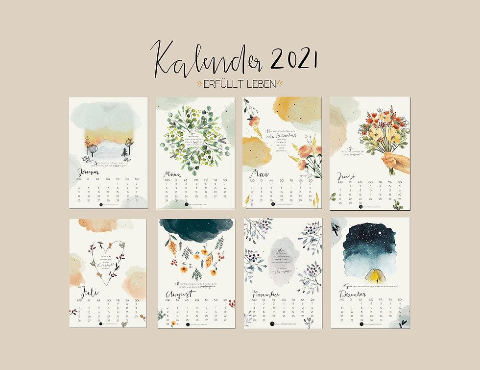 "Wandkalender 2021 ""Erfüllt leben"""