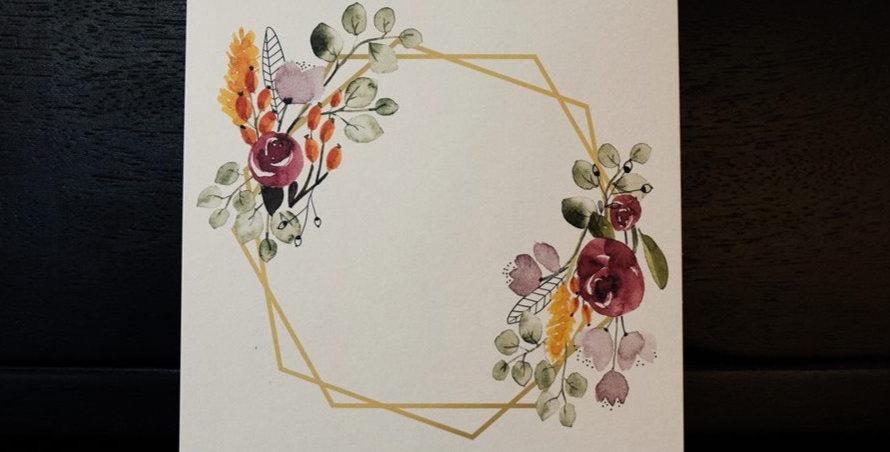 Karte - Blumenliebe