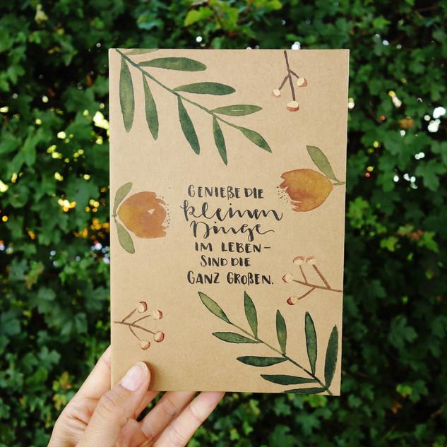 Notizbuch handgemalt mit Gold