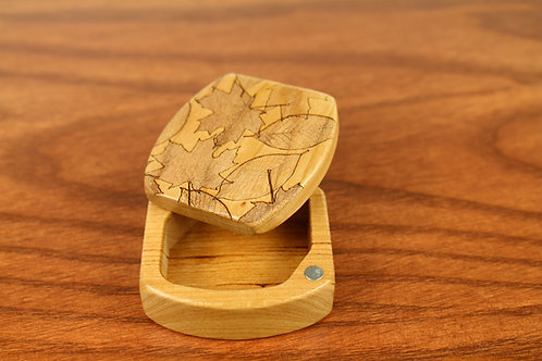 Fall Leaves   Natural Wood Engraved Magnetic Storage Box   Laser Engraved