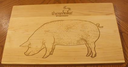 Custom engraving on a cutting board