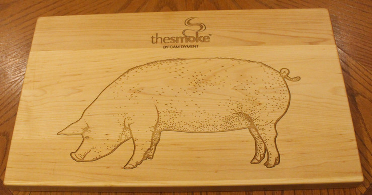 Custom engraving on a cutting board