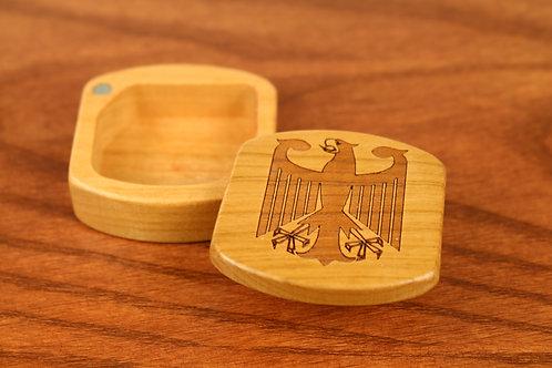 German Eagle | Natural Wood Magnetic Box | Laser Engraved