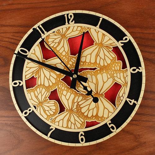Monarch Butterfly Clock