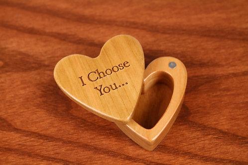 I Choose You - Heart Shaped Box H41