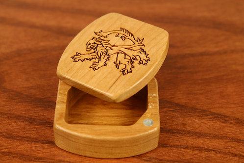 Dutch Lion | Natural Wood Magnetic Box | Laser Engraved