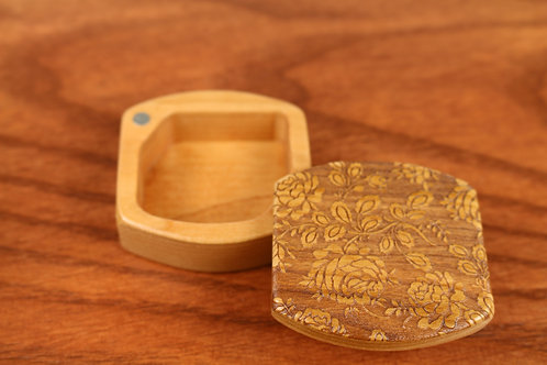 Roses | Small Wood Ring Box | Laser Engraved