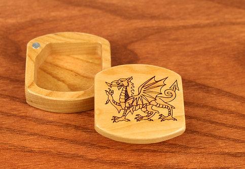 Welsh Dragon | Magnetic Wood Jewelry Box | Y Ddraig Goch