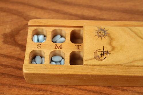Sun & Moon   AM PM 7 Day Pill Case   Single
