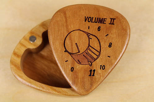 Crank it to 11! --- Guitar Pick Box