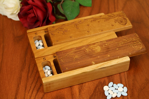 Beehive Morning & Night | AM PM 7 Day Pill Organizer | Double