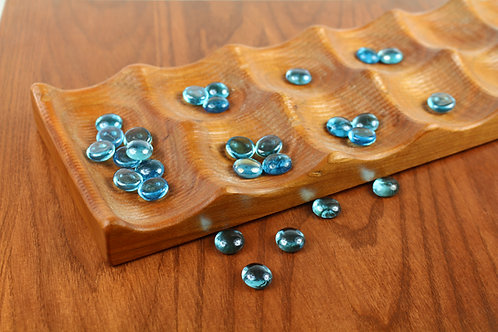"""Large Solid Cherry Wood Deluxe Mancala 24""""L x 6W"""" x 1""""D"""