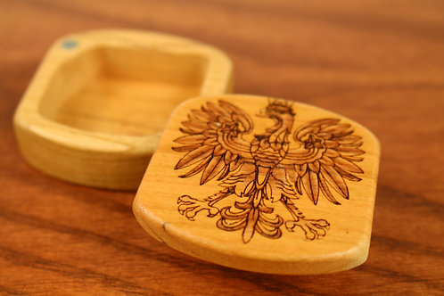 Polish Eagle | Small Wood Gift Box | Laser Engraved