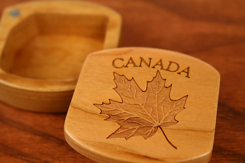 Canadian Maple | Wood Magnetic Gift Box | Laser Engraved