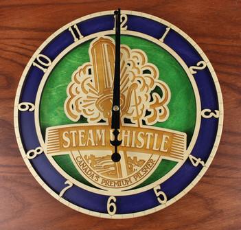 Custom Steamwhistle clock