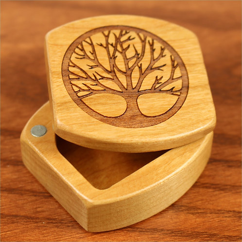Tree of Life | Small Wood Magnet Jewelry Box | Laser Engraved