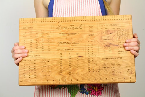 Cooking Measurements Cutting Board
