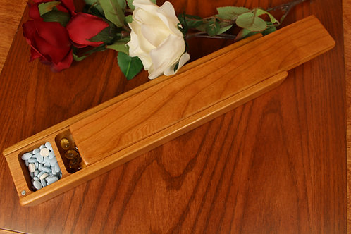 Natural Wood Lid | 7 Day Vitamin Box | Jumbo