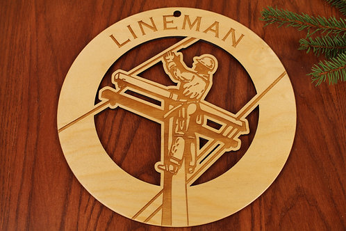 Lineman Wall Art - Baltic Birch Plywood