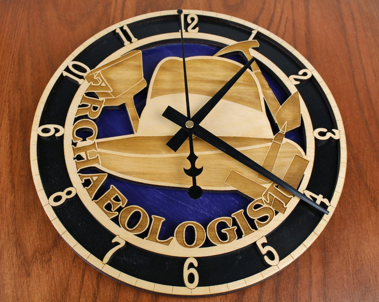 Custom Archaeologist Clock