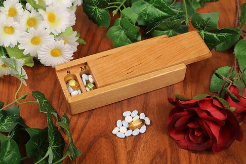 Natural Cherry | 7 Day Pill Case | Single