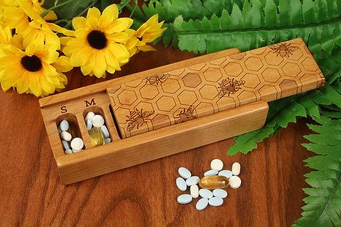 Honey Bee | 7 Day Pill Box | Single