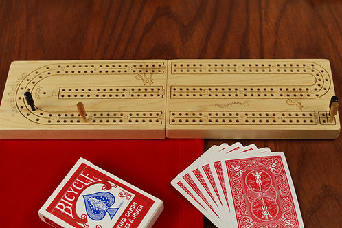 Folding 2 Player Travel Cribbage Board
