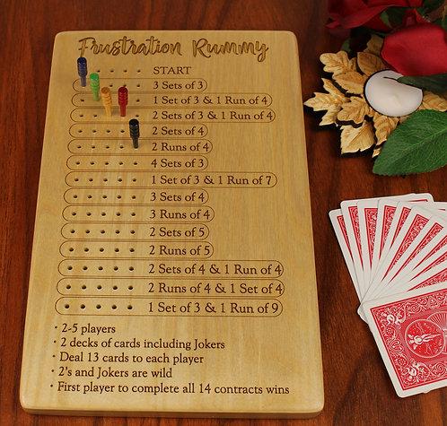 """Frustration Rummy Game Board 11""""L x 7W"""" x 3/4"""""""