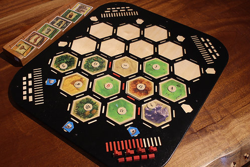 Deluxe 4 Player Catan Board with Black Stain