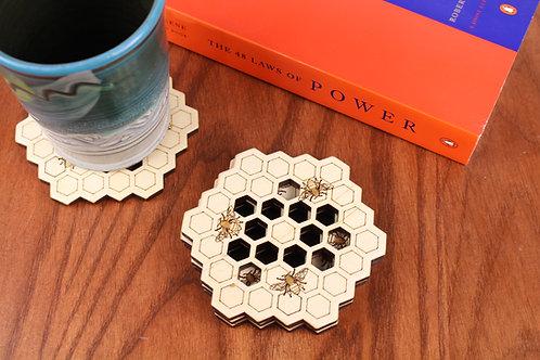 Honey Bee Coasters - Set of 6