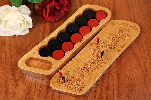Crokinole Score Counter Box - All Cherry