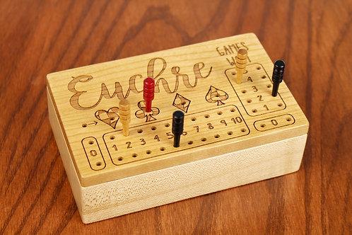 Euchre Score Counter Box   Maple and Cherry