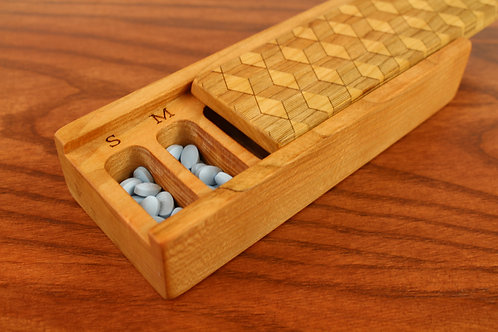 Optical Art Cube Design- 7 Day Vitamin Box