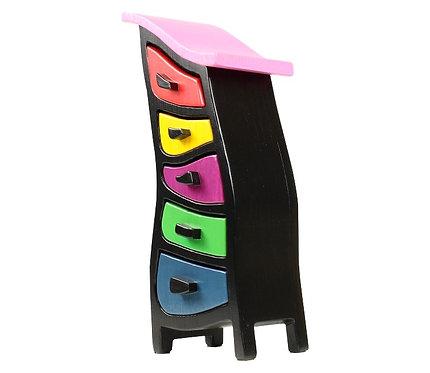 Colourful Wooden Jewelry Box - Abbott 428