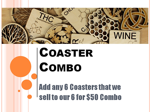 Coaster Combo - Pick any 6 Coasters