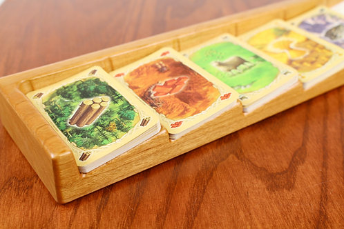 Settlers of Catan Card Holder - Solid Cherry