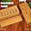 Thumbnail: JUMBO Weekly Pill Box, Chickadee Pattern Solid Cherry Hardwood, Paul Szewc