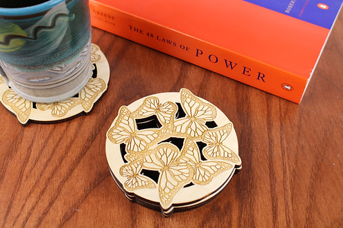 Monarch Butterfly Coasters - Set of 6