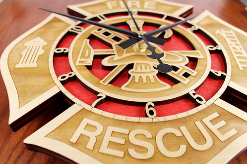 Fire Rescue Clock