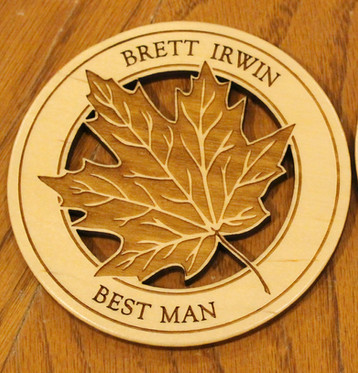 Custom best man coaster