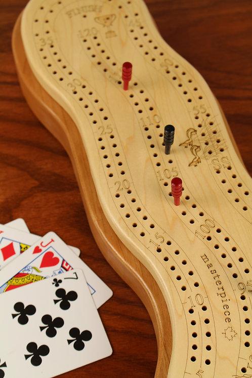 2 Player Wonky Cribbage Board