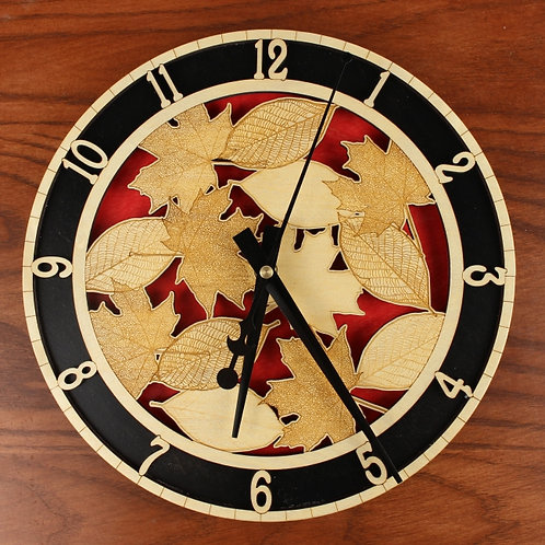 Leaves Clock