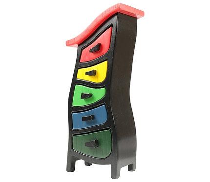 Rainbow Wooden Jewelry Box   Abbott 432   Mini Wonky