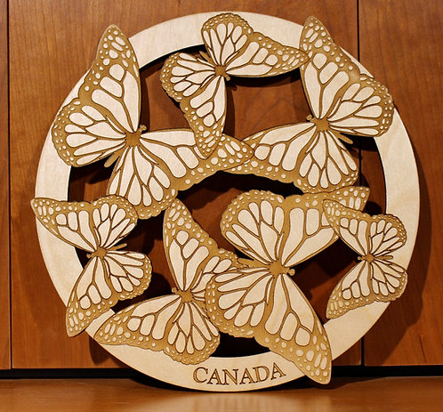 Butterflies Wall Art - Baltic Birch Plywood