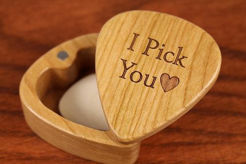 Wood Guitar Pick Box | I Pick You
