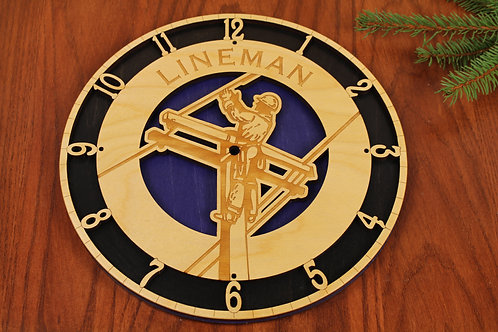 Lineman Clock - Blue