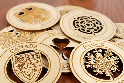 Family Heritage Coasters - Set of 6 - Mix and Match