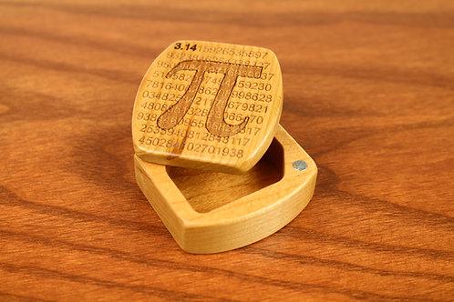 Pi | Natural Wood Magnetic Pocket Box | Laser Engraved